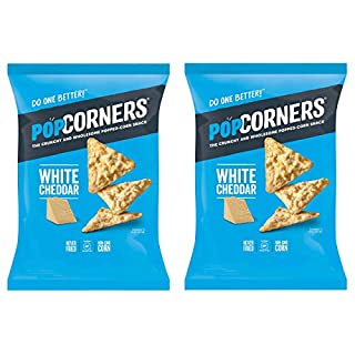 PopCorners PopCorn Snack Chips Pack of 2 5oz Bags (White Cheddar PopCorners) - SET OF 2