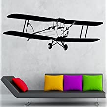 Love Girl Wall Decal Airplane Aviation Kids Boys Room Decor Vinyl Stickers Art Mural (ig2524)