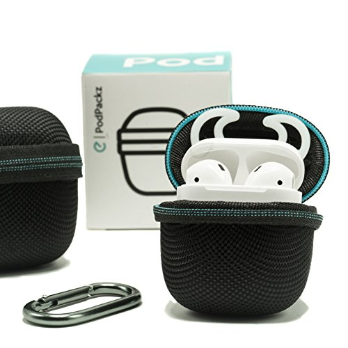 pretty nice 6f95d 5dd3b PodPackz AirPods Hard Case with Pocket for EarBuddyz Hooks [1 pair ...