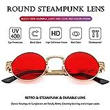 Round Steampunk Sunglasses John Lennon Hippie