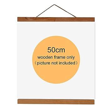 Parfait Cadre Magnétique De Photo En Bois Naturel Support De Toile Peinture Image Affiche  Pour Décoration Maison