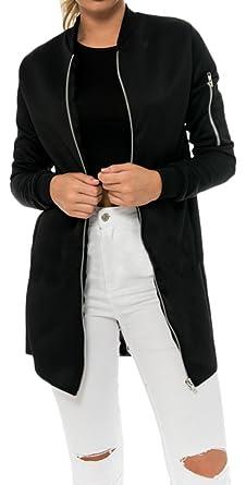 Veste noire femme longue