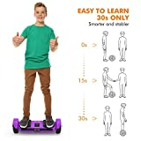 OXA Hoverboard Self Balancing scooter UL 2272 Certified Super Long Range 17km Double Patented Personalized hover board with LED Lights and Two Model Intelligent Self-balance Control System Purple