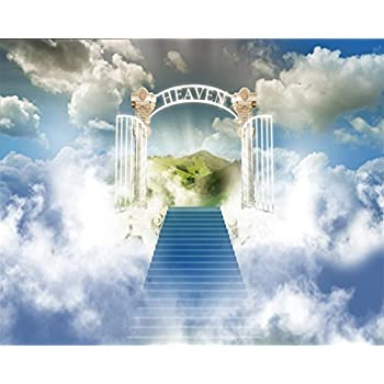 Amazon Com Aofoto 12x10ft Staircase To Heaven Backdrop
