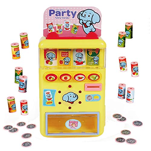 - PUSITI Vending Machine Toys Electronic Drink Machines Kids Education Learning Toys for Boys and Girls Age 3 Years and Up Shopping Game Toys