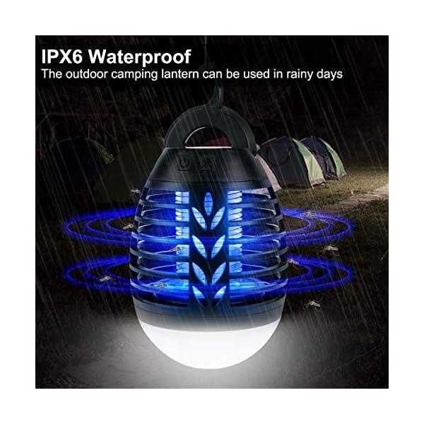 ROVLAK Zanzariera Elettrica Esterno 2-in-1 Lampada Antizanzare USB + Lanterna da Campeggio Ricaricabile Anti-zanzara… 4 spesavip