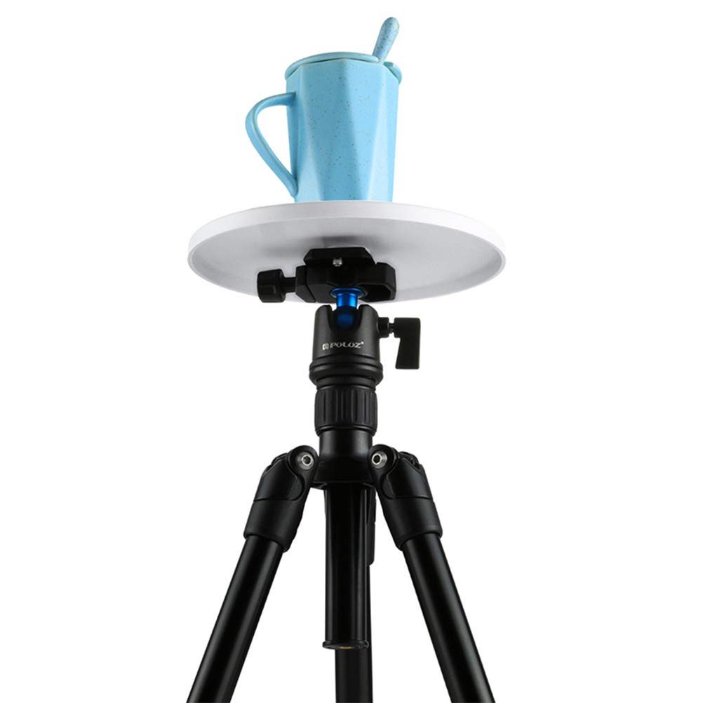SUPVOX PULUZ 1//4 Screw interface Round Tray Compatible with Electronic 360 Degree Rotation Panoramic Tripod Tray Head Diameter: 18cm