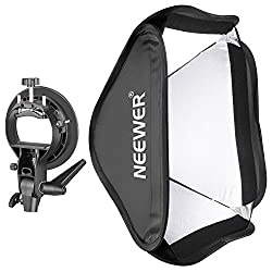 Neewer Collapsible 24x24 Inches60x60 Centimeters Softbox With S-type Bracket Mount For Speedlite Studio Flash Monolight,portrait & Product Photography