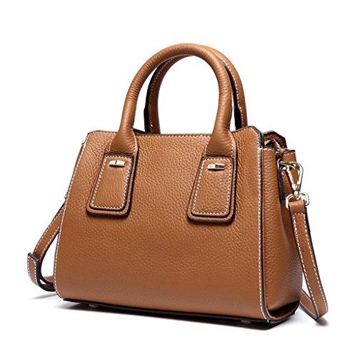 Mujer Cuero Genuina bolsos Capacidad Bloqueo Hecho 5 Ideal trabajo RFID Genuino Gran hombro de y viaje Sucastle para 5 a Mano gA4dqg