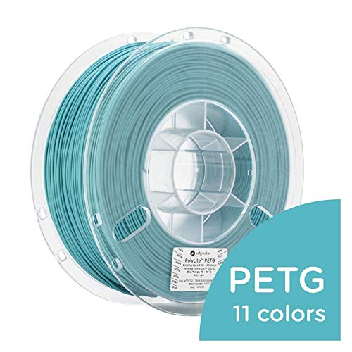 Polymaker PolyLite 3D Printer Filament, PETG Filament, 1.75mm Filament, 2.2lb(1Kg) Polymaker Teal Filament [Random Outer Packaging]...