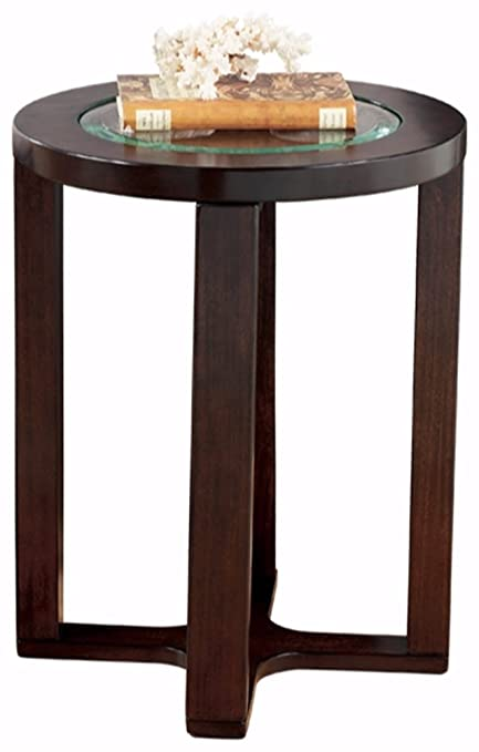 Ashley Furniture Signature Design   Marion Chair Side End Table    Contemporary Style   Round