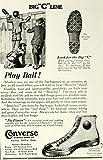 1924 Ad Converse Rubber Shoe Broncho Big C Line Footwear Children's Clothing Art - Original Print Ad