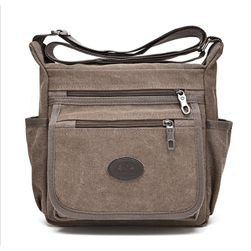 Qflmy Vintage Retro Canvas Messenger Bag Crossbody Shoulder Bag