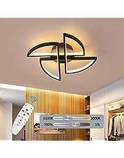 "Garwarm Modern Ceiling Light, 23.6"" LED Flower Shape Design Dimmable Chandelier Flush Mount Ceiling Lights Fixture for Living Room Bedroom 50W"