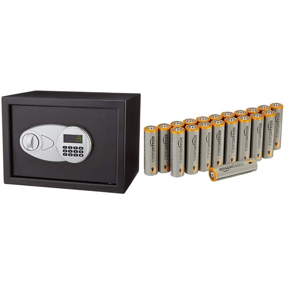 Basics color negro Pilas alcalinas AA Performance Caja fuerte Paquete de 20 14L Basics