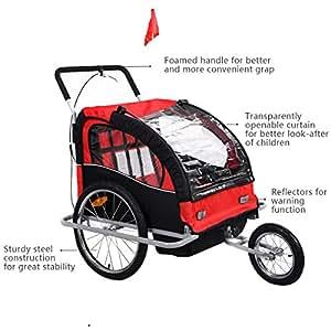 Amazon.com: 2 en 1 portabicicletas doble bebé bebé bicicleta ...