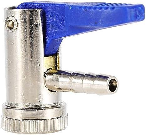 Qiilu 8mm V/álvula Infladora neum/ática Conector de aire del portabrocas del neum/ático Coche Van Moto