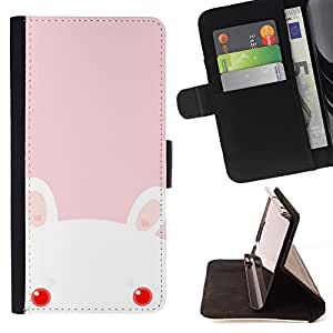- Evil Cute Pink Rabbit Doll - Estilo PU billetera de cuero del soporte del tir???¡¯????n [solapa de cierre] Cubierta- For LG OPTIMUS L90 £¨ Devil Case £©