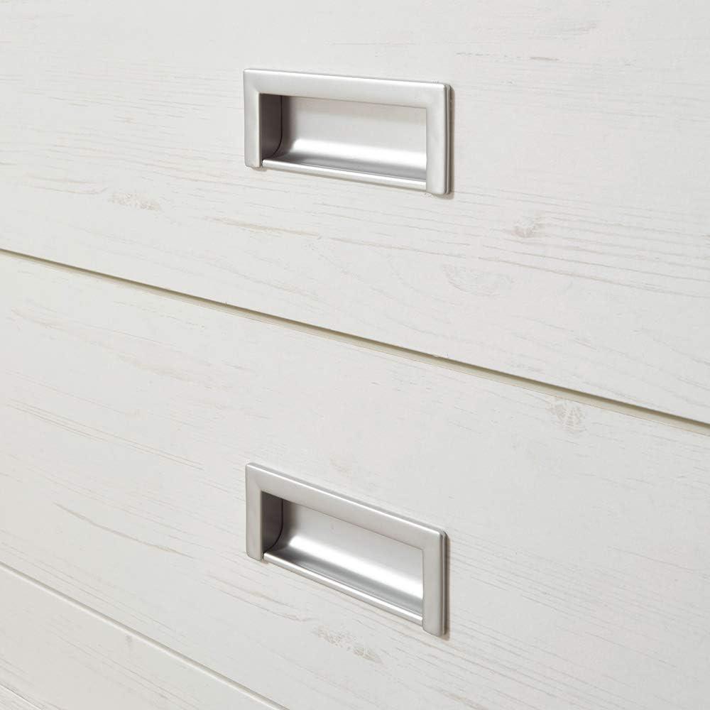 Wotaneiche Lowboard Pinie wei/ß 2 Vitrinenschrank Sideboard Wohnwand im Landhausstil