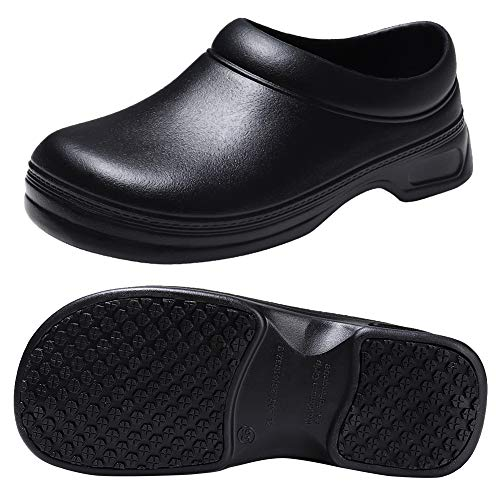 Womens Mens Non Slip Work Shoes for Chef Nurse Slip Resistant Clogs 9.5W/8.5W All - Chef Clogs Shoes