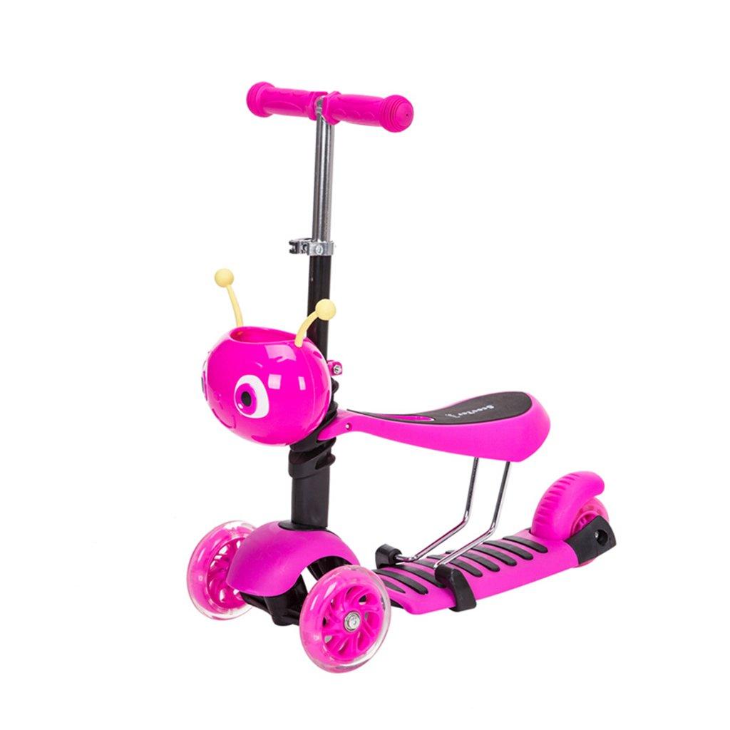 2019年激安 子供のスクーター折り畳み式多機能ウォーカー折りたたみ三輪式ライダープーリーリフト可能な取り外し可能な2-12歳 B07FZ8VSC6 Pink Pink Pink B07FZ8VSC6 Pink, B-room interior:9f67df14 --- a0267596.xsph.ru