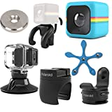 Polaroid Cube ACT II HD 1080p Lifestyle Action Video Camera (Blue) Gift Bundle + Waterproof Case + Suction Mount + Flexi Pod Mount + Magnet Adapter + Monkey Stand + Bike Mount + Strap Mount