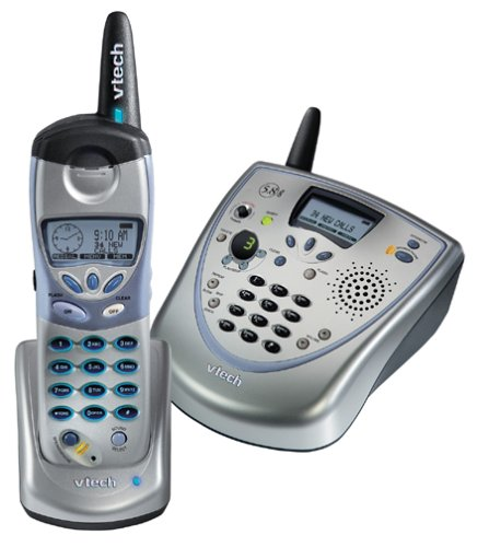 VTech i5881 5.8 GHz DSS Expandable Cordless Speakerphone with Answering System (Handset Ghz Multi 5.8)