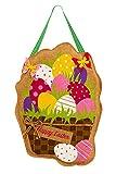 Evergreen Easter Eggs in Basket Burlap Door Decor