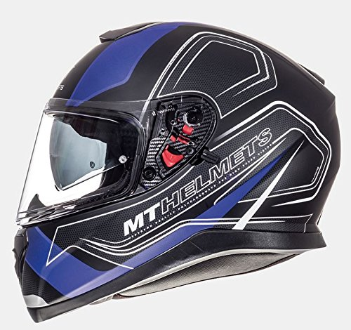 MT - Casco Integral Thunder 3 SV TRACE Negro Azul Mate (XS) product image
