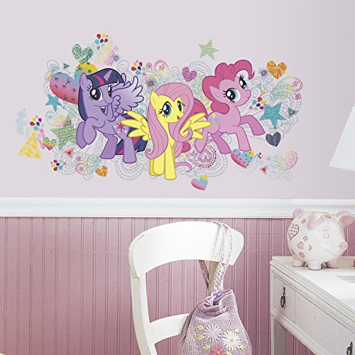 RoomMates RMK2708GM My Little Pony Wall Graphix Peel and Stick Giant Wall (My Little Pony Bedroom)