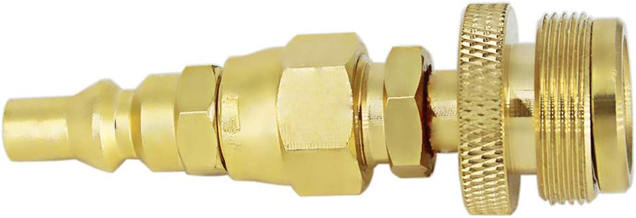 """MCAMPUS 1LB Disposable Tank Regulator Adapter Fitting with 1//4/""""Quick Connect"""