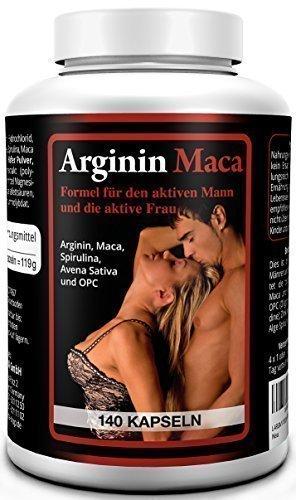 Biomenta® L-Arginin plus Maca 1500 - AKTIONSPREIS!!! -140 Kapseln hochdosiert mit L-Arginin 1500 mg + Maca Wurzelextrakt 3500 mg je Tagesdosis| für aktive Frauen und Männer | OPC, Avena Sativa, Alge Spirulina, Zink