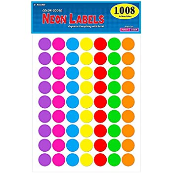 Amazon Com Avery Round Color Coding Labels 0 75 Inch Assorted Removable Pack Of 315 6733