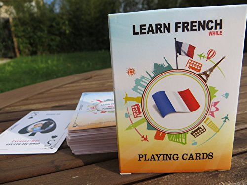 French Language Playing Cards | Language Learning Game Set | Fun Visual Flashcard Deck To Increase Vocabulary Skills - Learn French Numbers