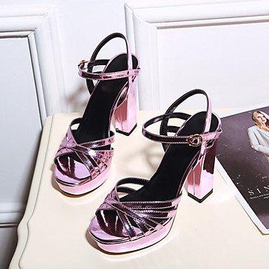 Purple Zapatos Boda Innovador club Mujer Trabajo Exterior y LvYuan Confort Sandalias Informal Gladiador Robusto Oficina Tacón Deporte Vestido del nxUnvw8A