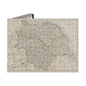 Amazon.com: Media Storehouse 252 Piece Puzzle of Ohio map 1885 ...