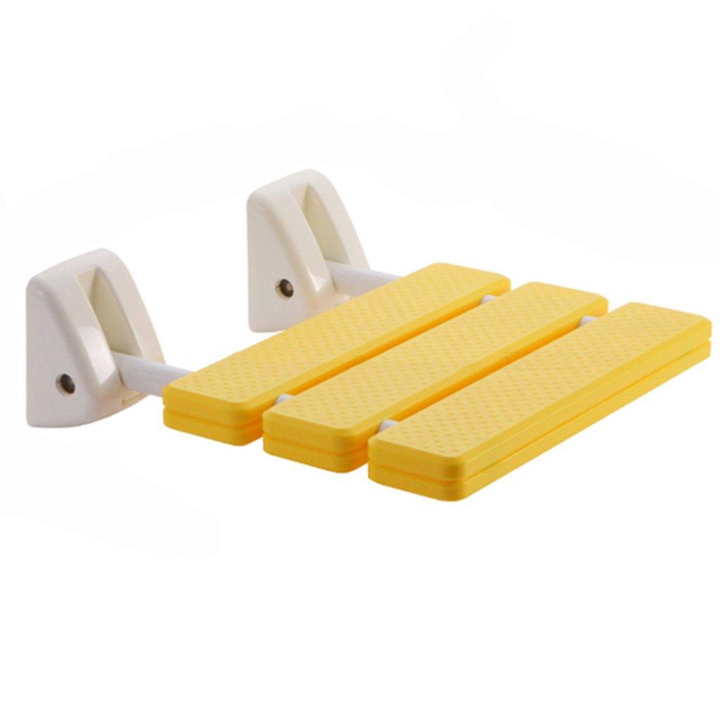TH シャワーチェア 折りたたみ式バスルームシートシャワースツールバスチェア 風呂椅子 ( 色 : イエロー いえろ゜ ) B07BW2SDBB イエロー いえろ゜ イエロー いえろ゜