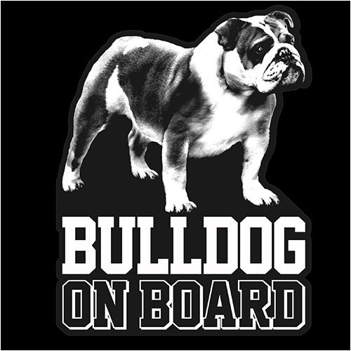 Bulldog Clear Vinyl Decal Sticker for Window, English Bull Dog Sign Art - Bulldog Vinyl Decal
