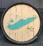 Lake Erie Map Barrel End