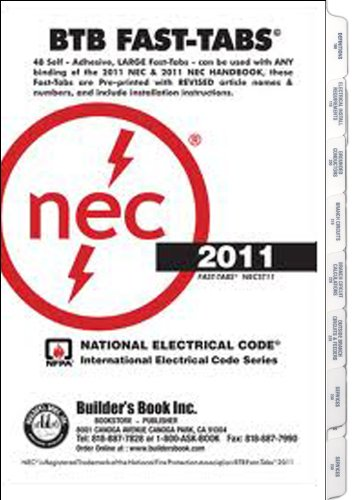2011 National Electrical (2011 National Electrical Code Fast-Tabs (For Softcover, Spiral, Looseleaf and Handbook))