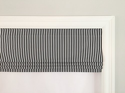 Faux (Fake) Roman Shade Valance With Lining. Carrie Stripe - Fake Shades