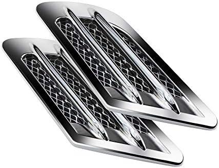 Chrome SUV Car Side Mesh Vent Air Flow Fender Decoration Sticker fit for all car