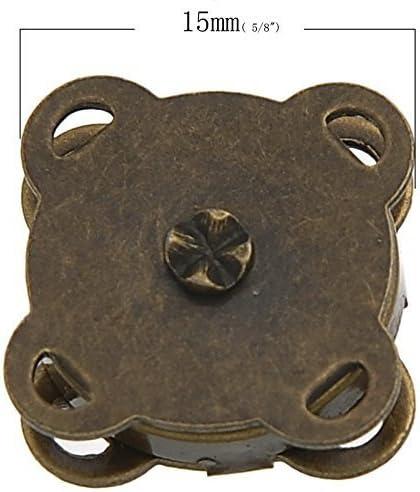 Sungpunet 10 Juegos de broches de Bronce para Coser en Bolsa ...