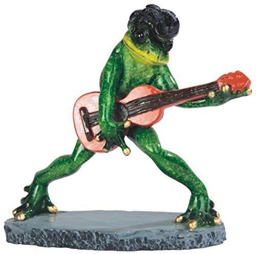 "StealStreet Elvis Frog Playing Guitar Figurine, 6.5"""