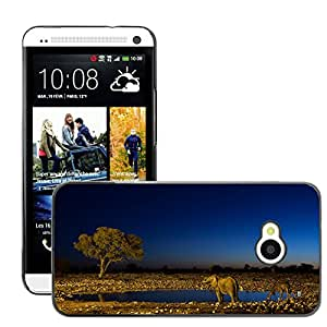 Hot Style Cell Phone PC Hard Case Cover // M00047383 animals elephants african wild // HTC ONE M7