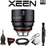 Rokinon Xeen 135mm T2.2 Lens with Canon EF Mount with Professional Accessory Kit