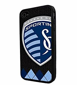 Soccer MLS Sporting Kansas City SOCCER FOOTBALL CLUB , Cool iPhone 4 / 4s Smartphone Case Cover Collector iphone TPU Rubber Case Black