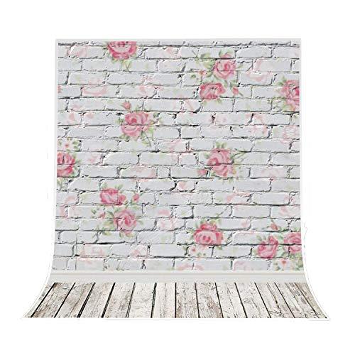 5x7ft Photography Background Vinyl Backdrop Paper Studio Props-Wood Floor Brick Wall Printing