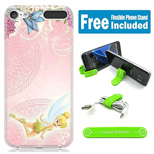 Apple iPod Touch 5th/6th Generation Case Cover Skin with Flexible Stand - Tinkerbell Pink Horiz (Tinkerbell Cell Phone Covers)
