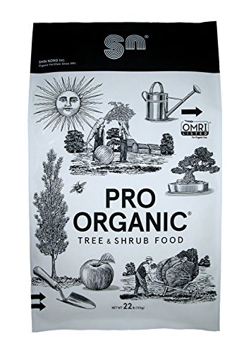 Shin Nong PRO ORGANIC Tree & Shrub Fertilizer, 100% Organic, 22lb, OMRI - For Tone Gardenias Holly